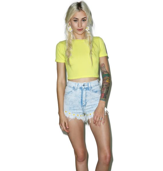 Daisy Mae Acid Wash Shorts