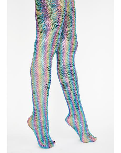 Chill Now N' Later Fishnet Tights