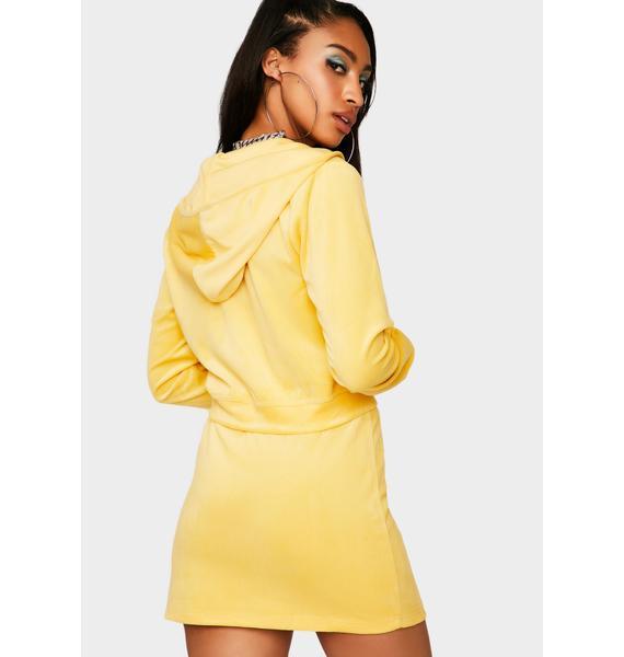 Proper Plush Velour Skirt Set