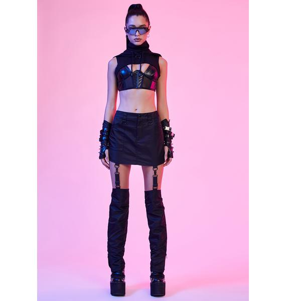 Current Mood Mod Future Convertible Mini Skirt