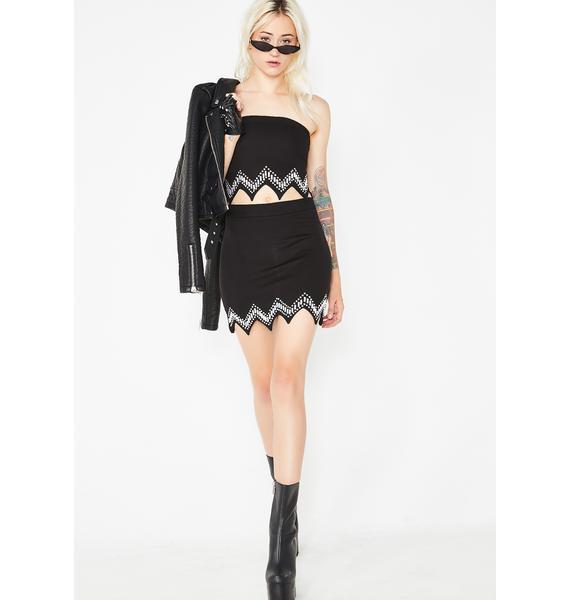 Kiki Riki Last Call Bedazzled Skirt Set