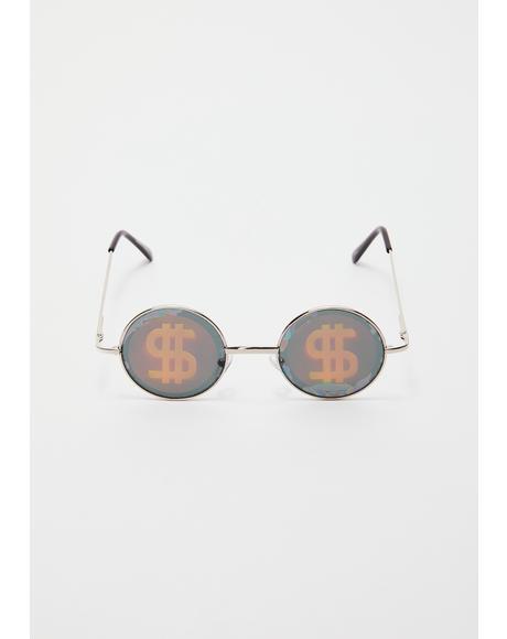 Kooks 3D Dollars Sunglasses
