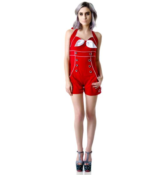 Play With Me Halter Playsuit