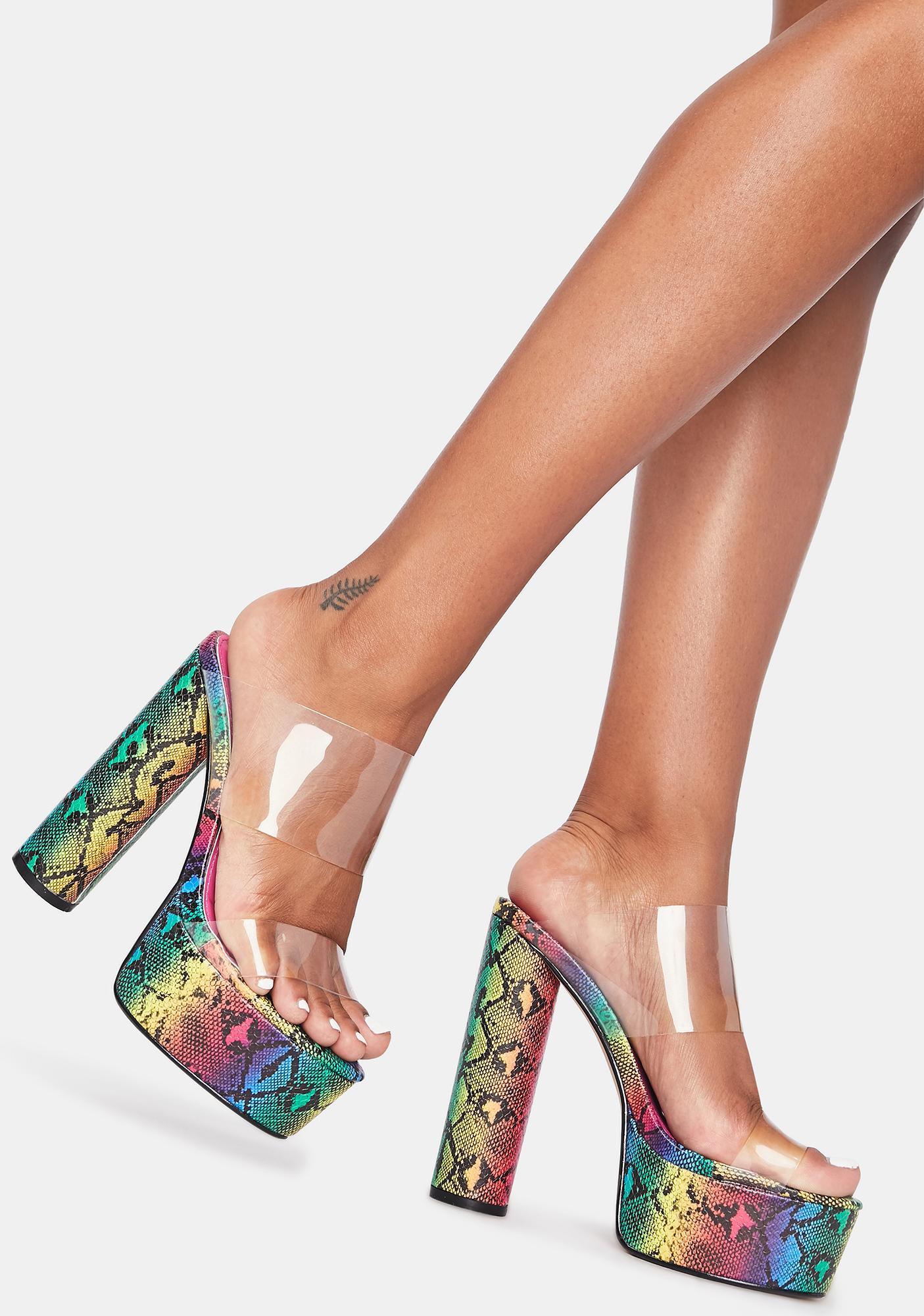 Lemon Drop by Privileged Rockford Platform Heels