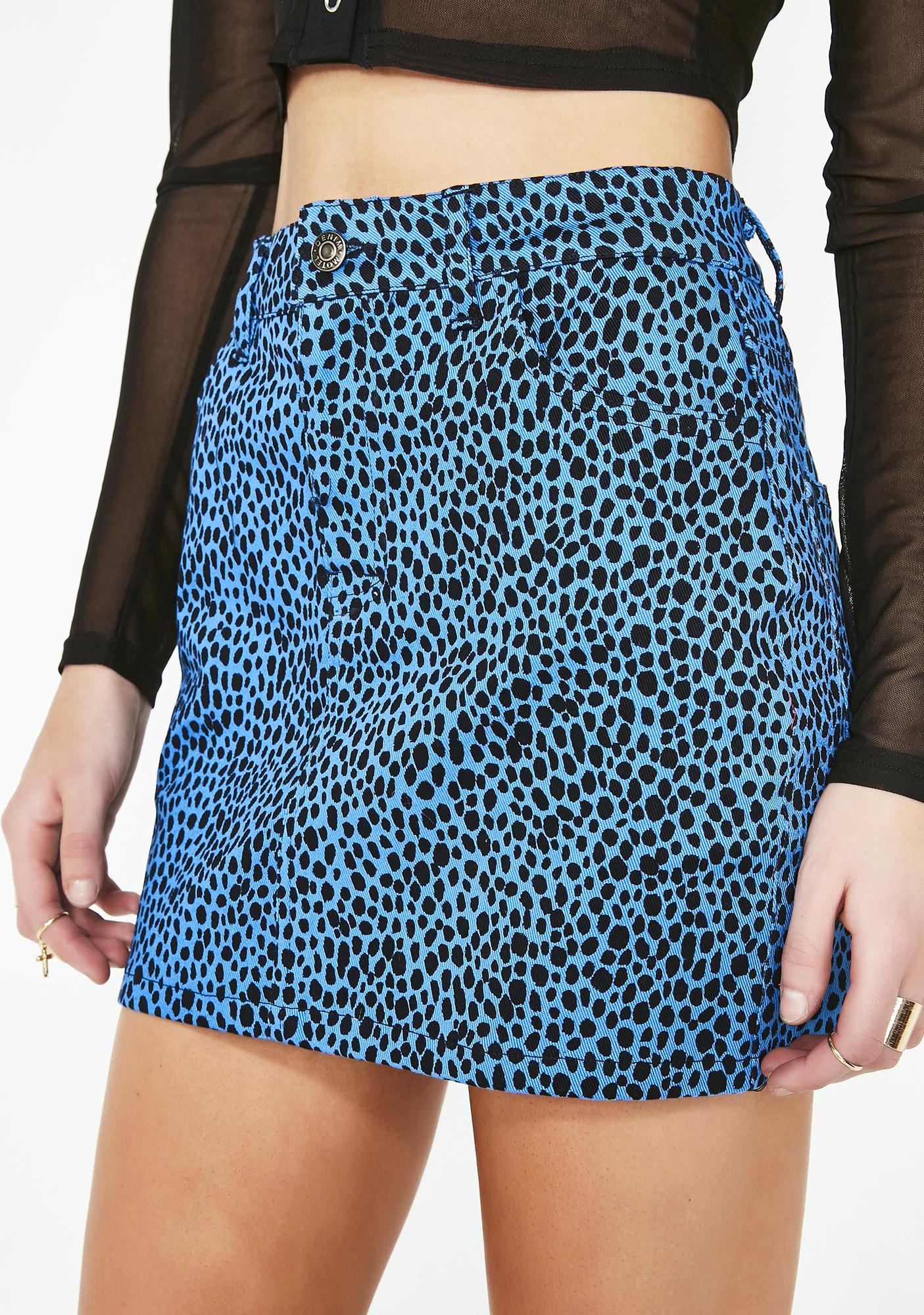 400374e00 Motel Wild Cat Mini Broomy Skirt