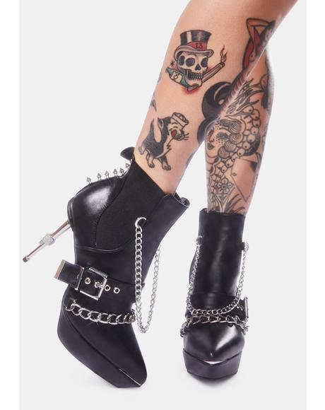 Graveyard Shift Chain Booties