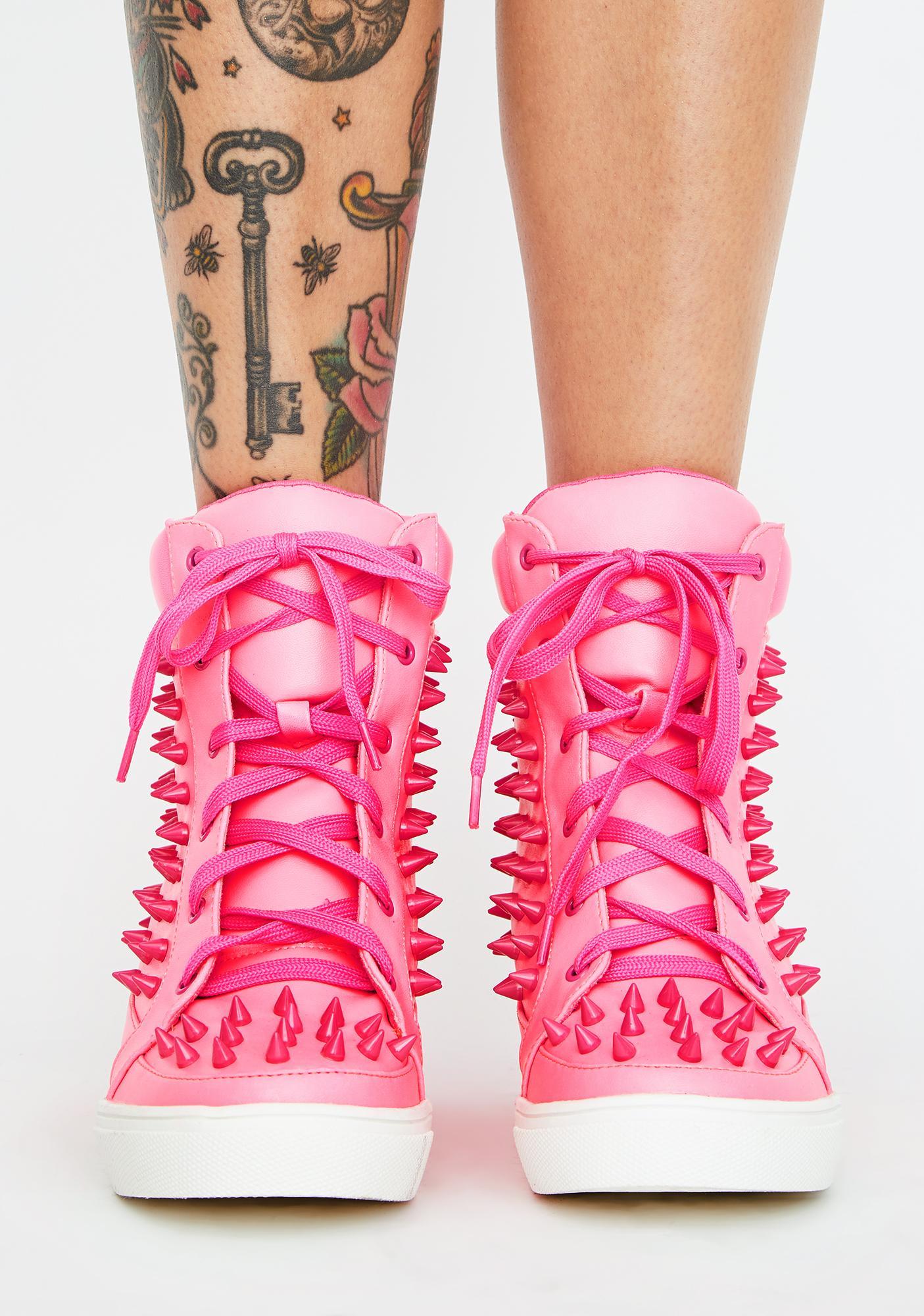 Miss Expelled Honey Wedge Sneakers