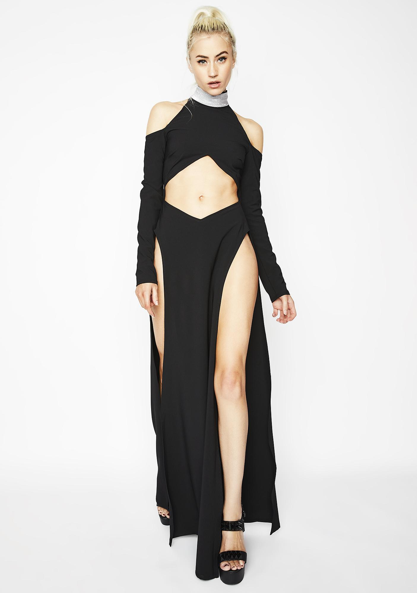 Yas Goddess Cutout Dress