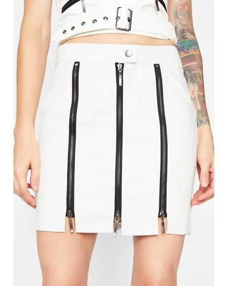 Pure Edge Of Glory Moto Skirt