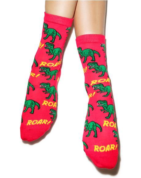Roarin' Rex Ankle Socks