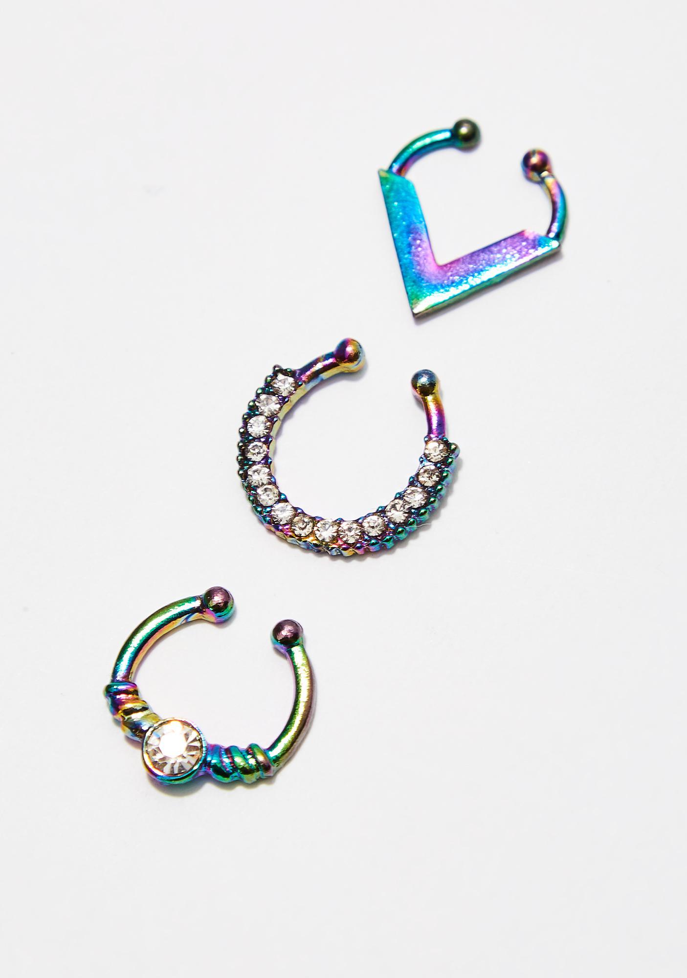 Stay Slick Septum Ring Set
