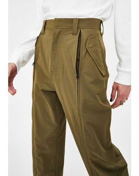 Zipped Mil Pants