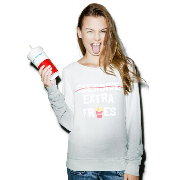 Wildfox Couture Extra Fries Please Baggy Beach Jumper