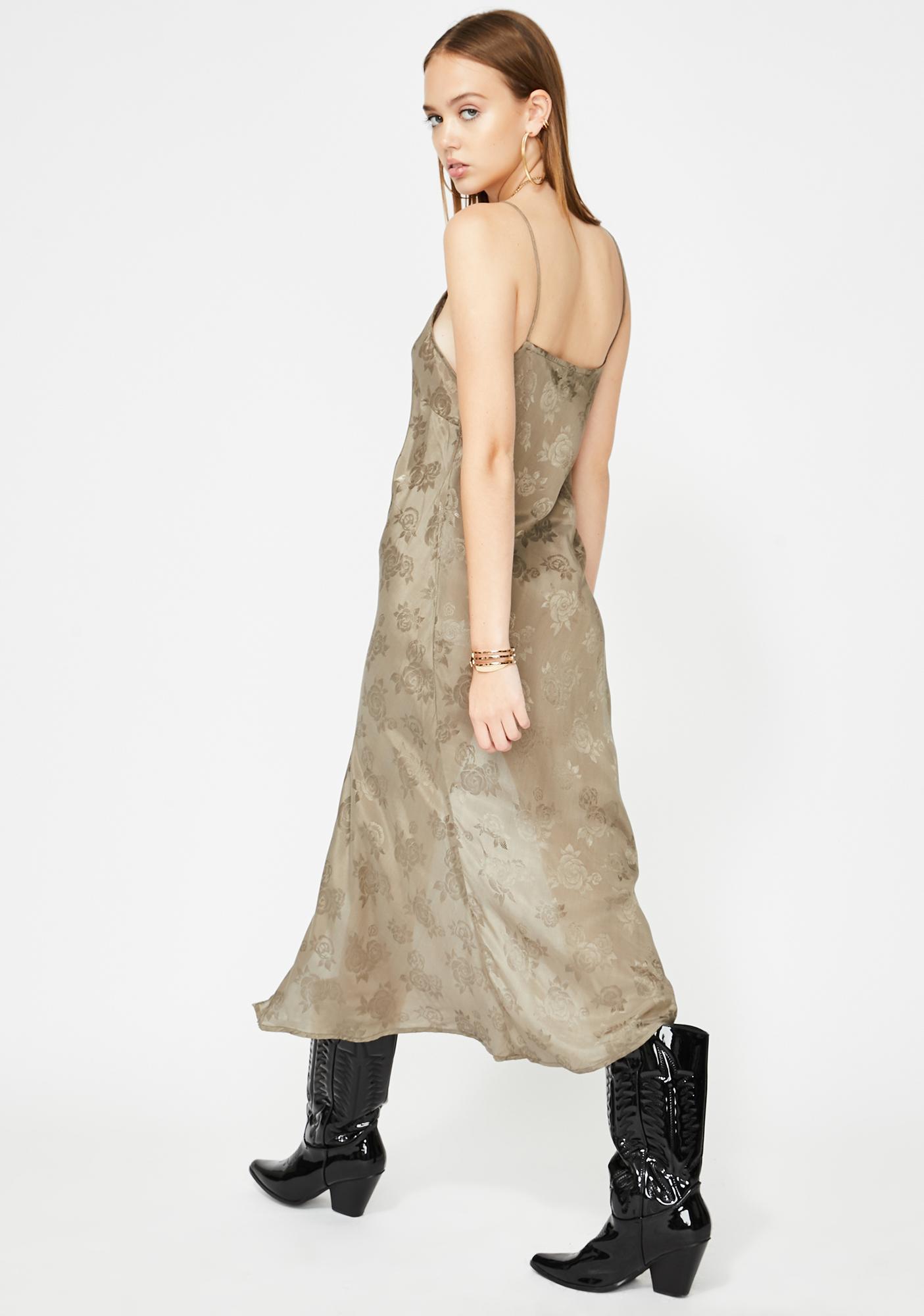 Motel Silver Quinty Midi Dress