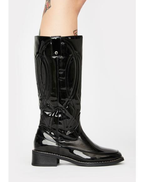 Noir Put Out My Fire Cowboy Boots