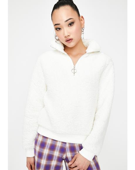 Ivory Cozy Up Fleece Sweatshirt