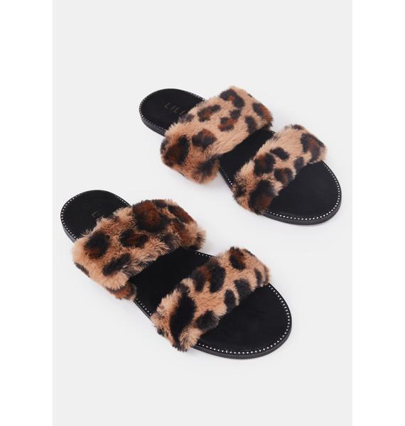 Miss Minx Faux Fur Slides