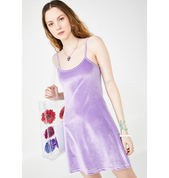 dELiA*s by Dolls Kill Lilac Cutie In Command Velvet Dress