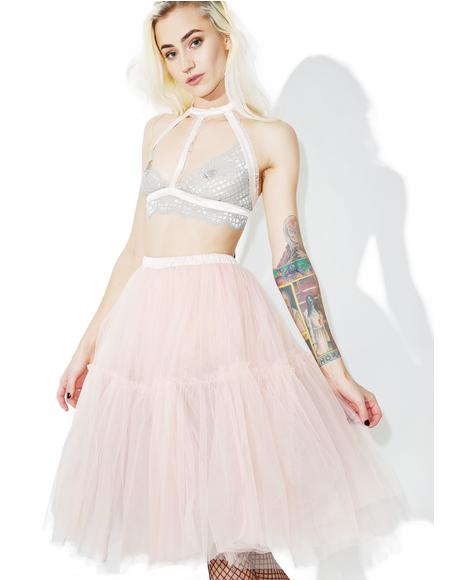 Palatial Sheer Tulle Skirt