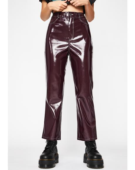 Vamp Left Alone Vinyl Pants