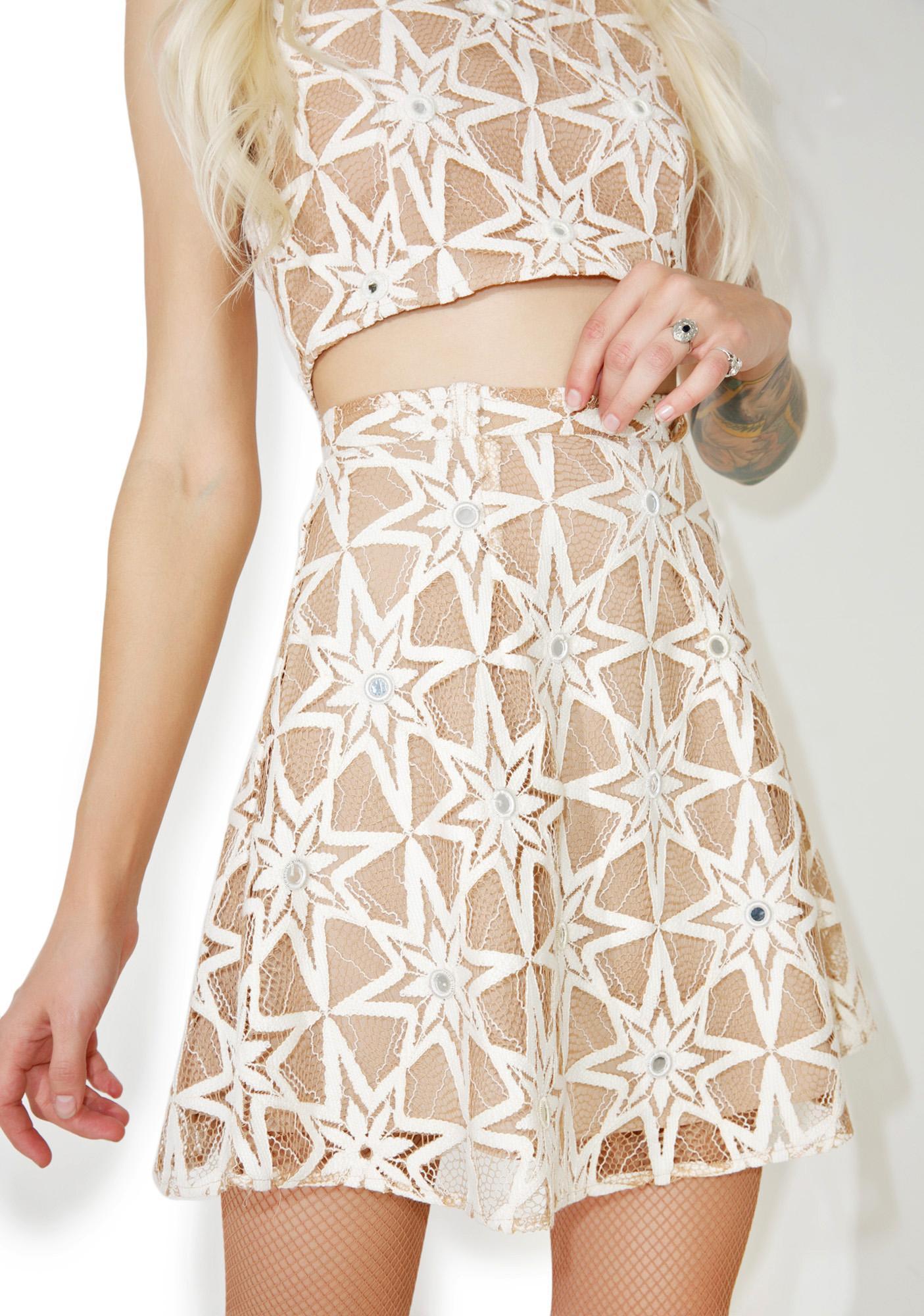 For Love & Lemons Metz Mini Skirt