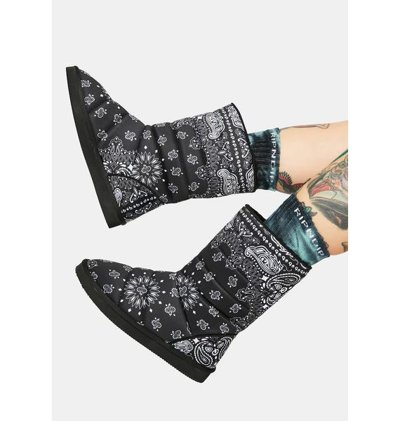 Of The Hour Paisley Print Ankle Boots