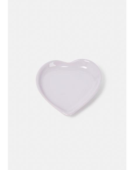 Lavender Heart Trinket Dish