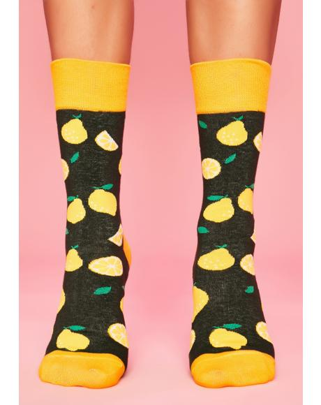 Why So Sour Lemon Socks