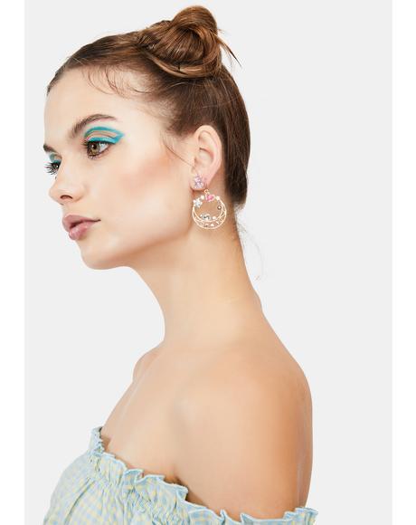 Dusty Daisies Drop Earrings