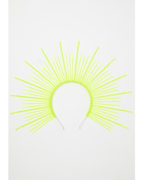 Neon UV Green Mary Halo Crown