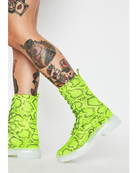 Radioactive Rattler Combat Boots