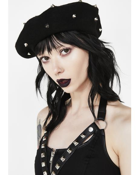 Damned Doll Spiked Beret
