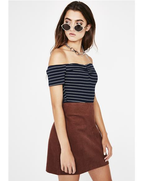 Navy Can't Even Stripe Top