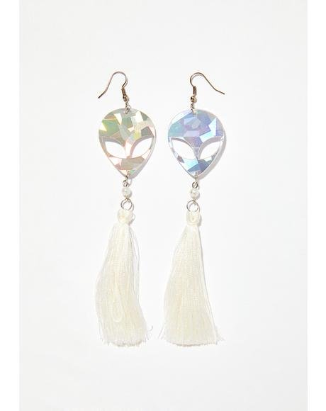 Beam Me Up Tassel Earrings