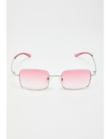 Sweet Fashion Law Square Sunglasses