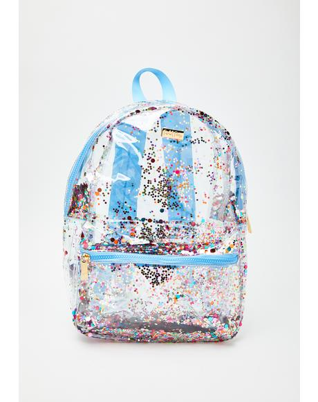 Carry Confetti Clear Backpack