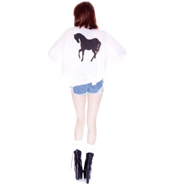 Wildfox Couture Pony Express Bonnie Button Down