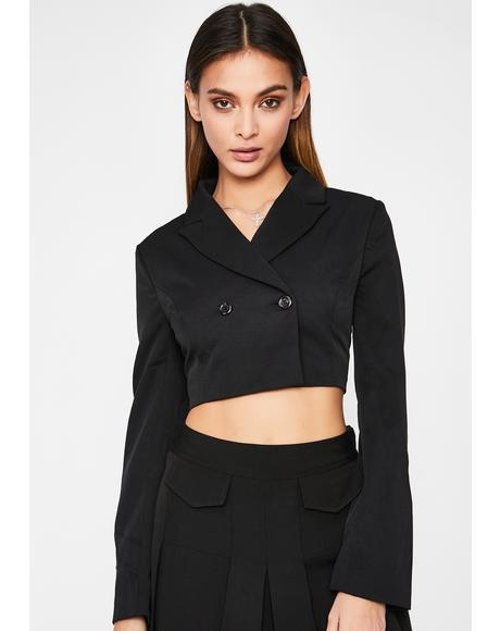 Office Heaux Cropped Blazer