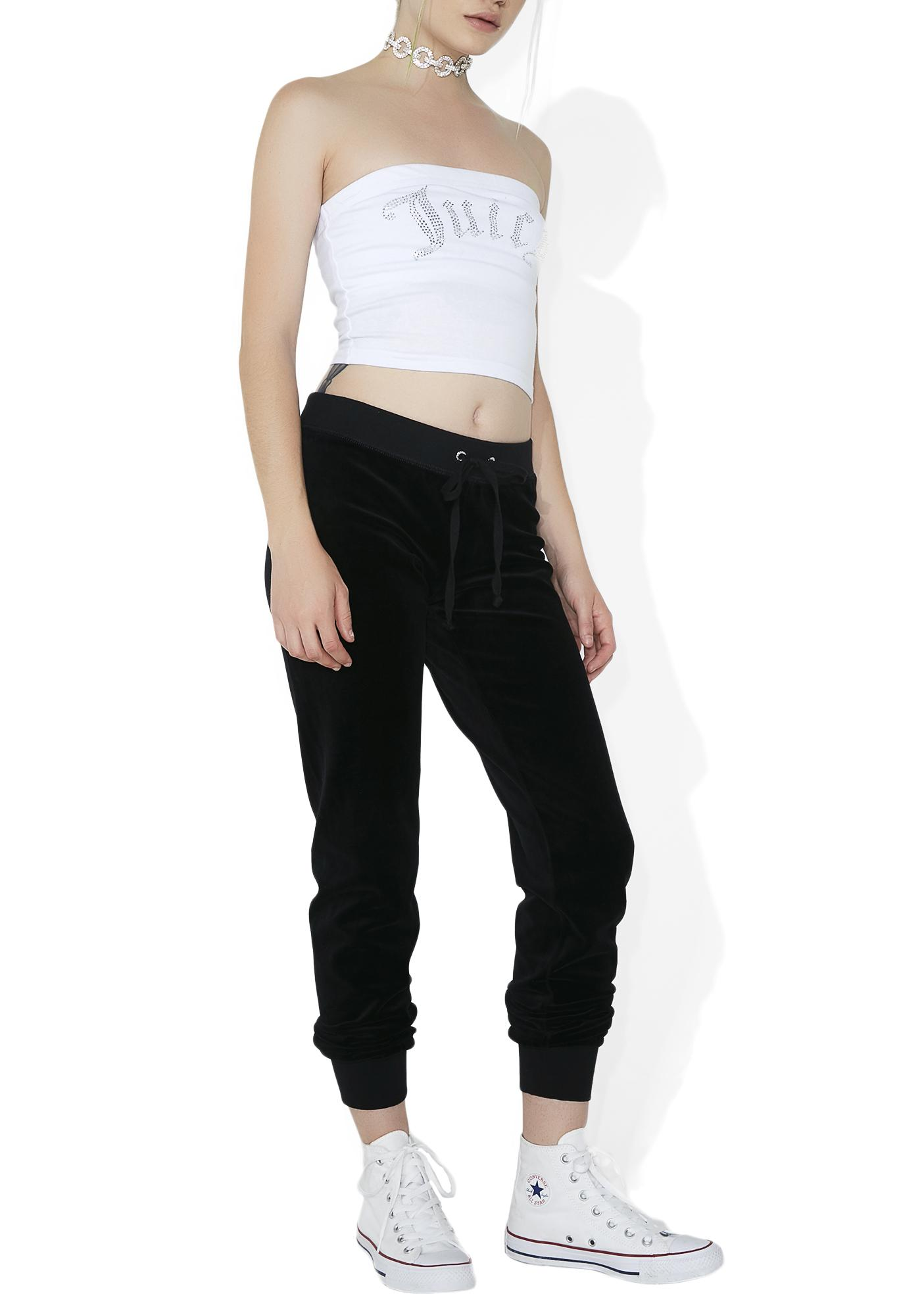 JUICY COUTURE Velour High-Rise Zuma Pants