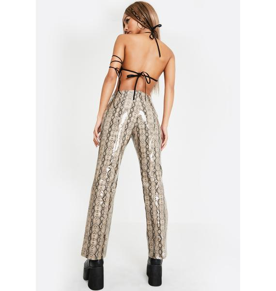 Club Exx Duel Delight Snakeskin Pants
