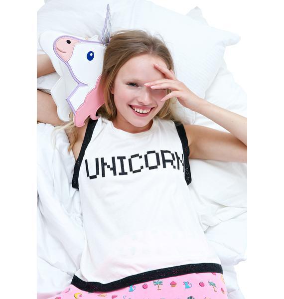 Wildfox Couture BFF Unicorn Barback Tank