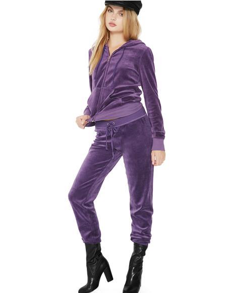 Violet Zuma Velour Pants