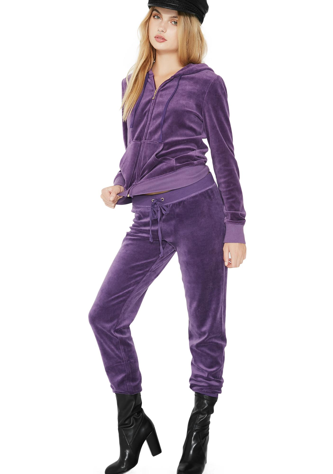 JUICY COUTURE Violet Zuma Velour Pants
