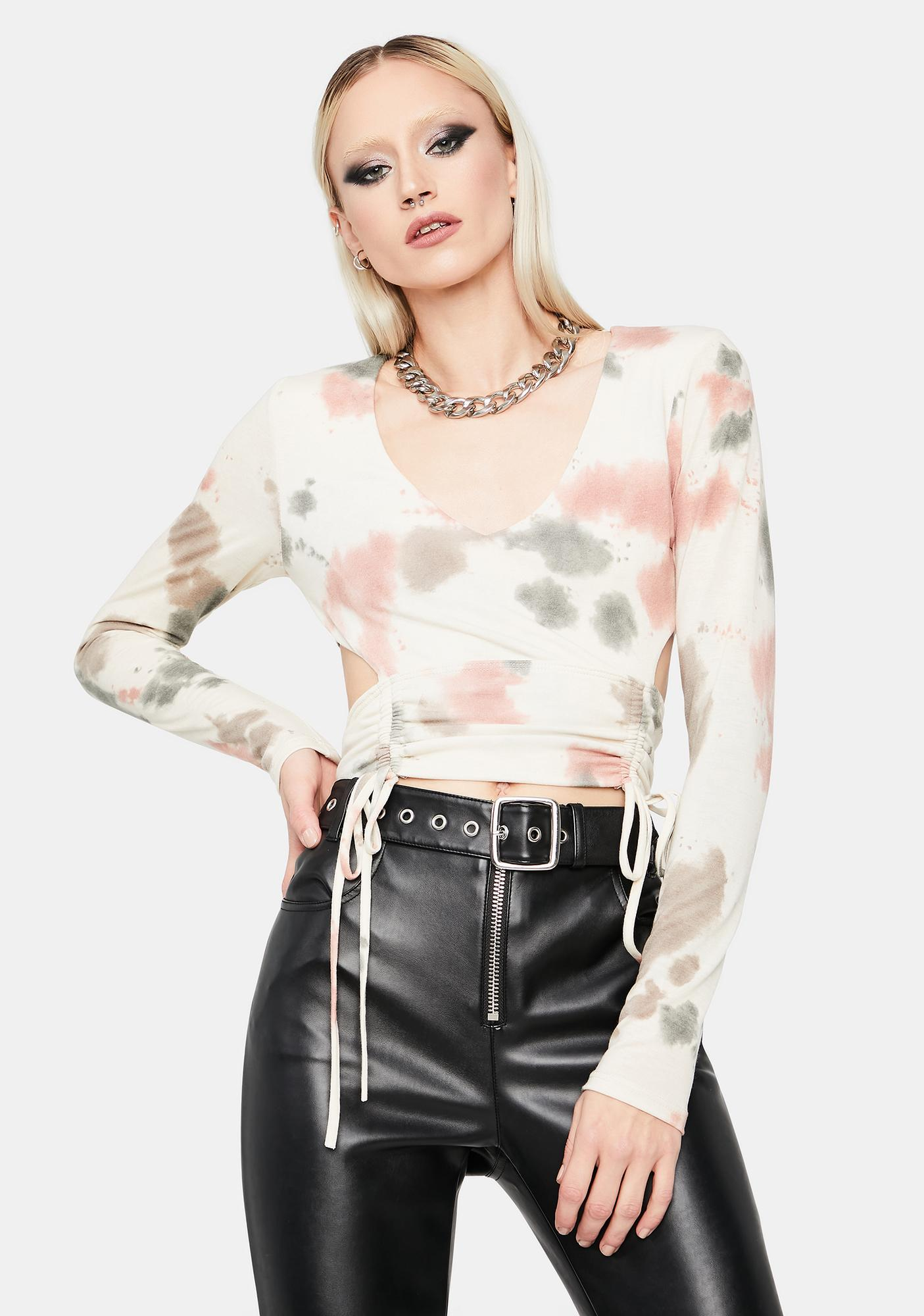 Naturally All About Me Tie Dye Crop Top