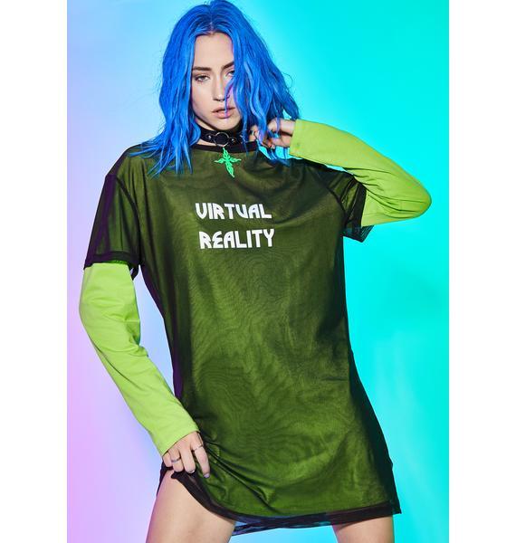 Current Mood Fuxx Reality Mesh Top