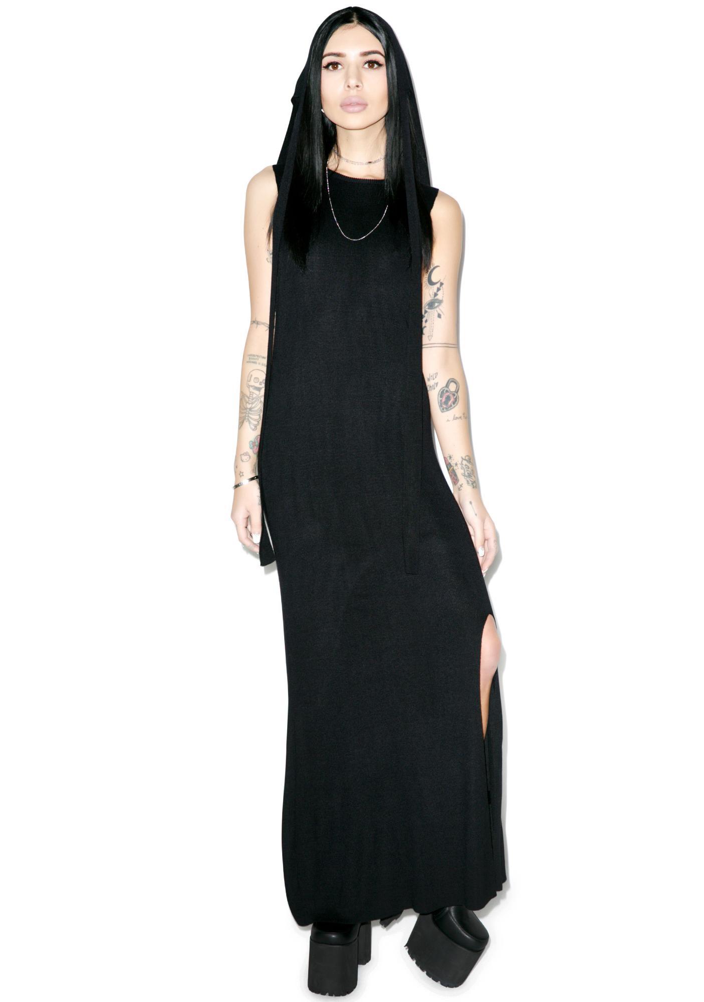 Black Scale Maiden Dress