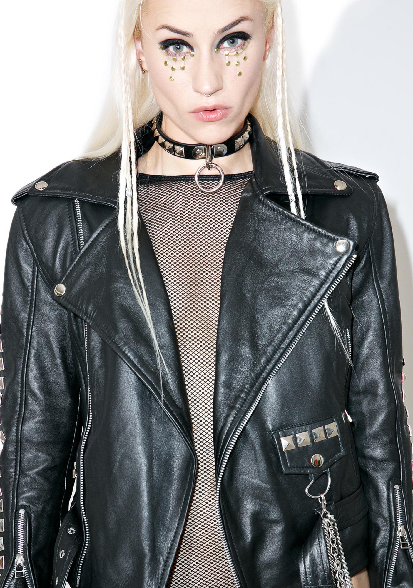 Who Cares NYC? Artsy BB Leather Moto Jacket
