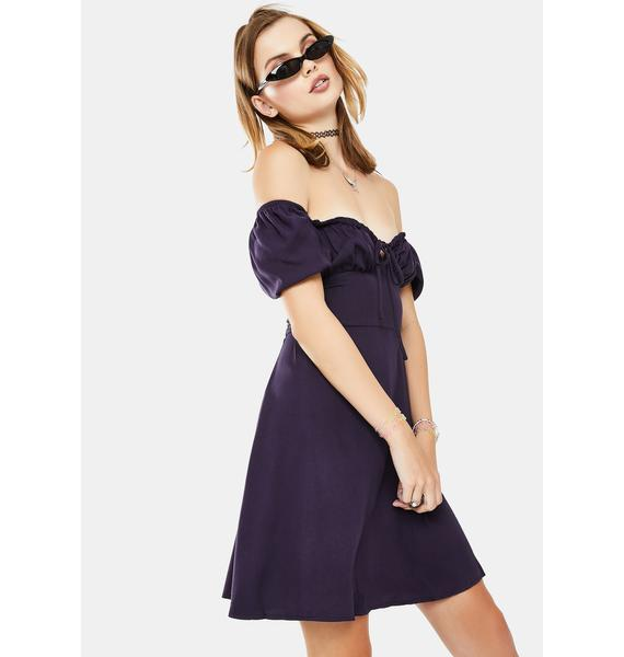 Glamorous Purple Short Sleeve Mini Dress