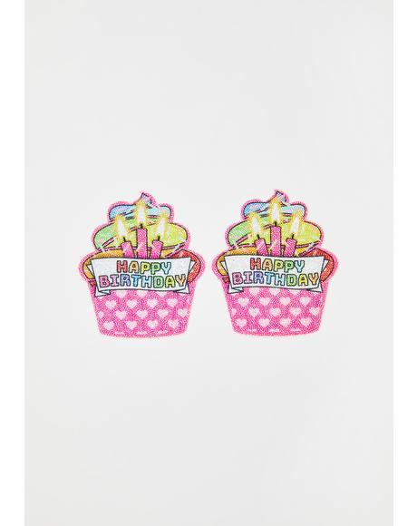 Pink Cupcake Pasties