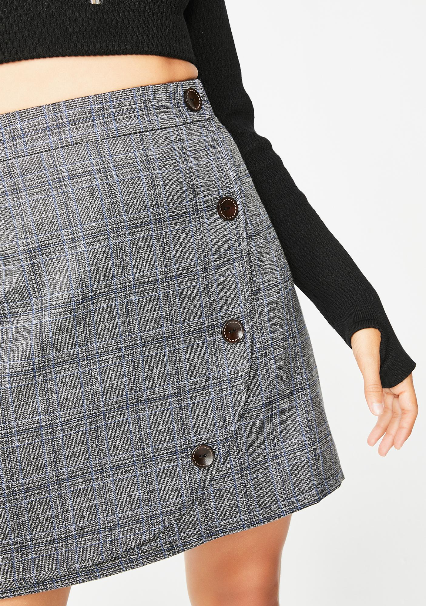 Class Brainiac Plaid Skirt